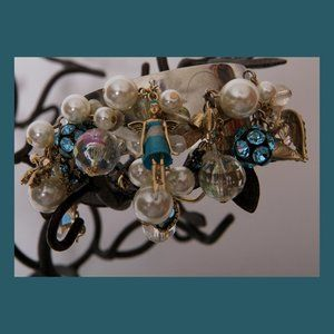 Snow Angel Cuff Bracelet w/Adorable Charms